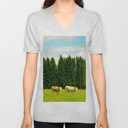 Doing the cow walk Unisex V-Neck