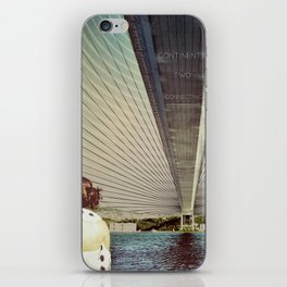 Connecting Two Continents  iPhone Skin