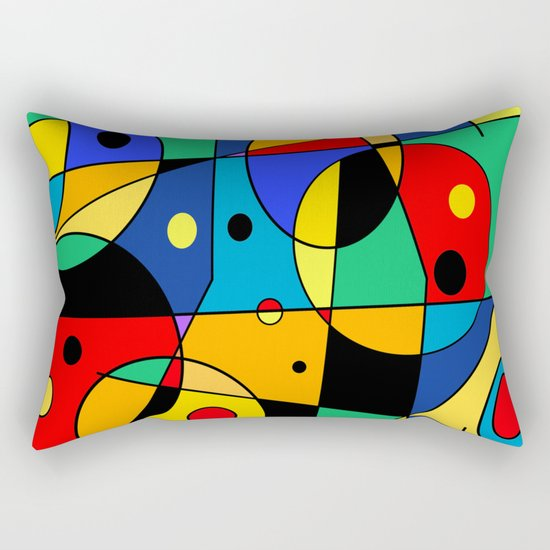 Abstract #58 Rectangular Pillow