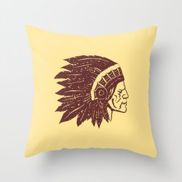 red Indian Throw Pillow