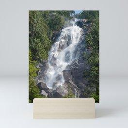 Beautiful Shannon Waterfall in British Columbia, Canada Mini Art Print