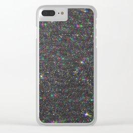 Glitter Glitch Clear iPhone Case