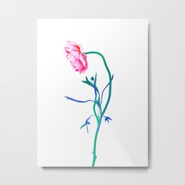 One Flower - Study 1. Profile Metal Print