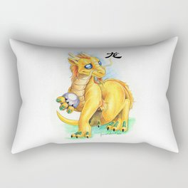 Chinese Zodiac Year of the Dragon Rectangular Pillow