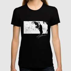 Life LARGE Black Womens Fitted Tee