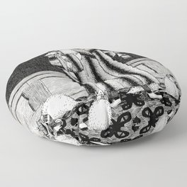 E IS FOR EDWARD, WHO ADOPTED SOME CATS Floor Pillow