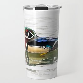 Wood Duck Three Travel Mug