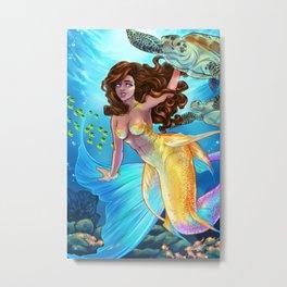 Hawaiian Mermaid Metal Print