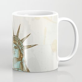 statue of liberty hand dawn Coffee Mug