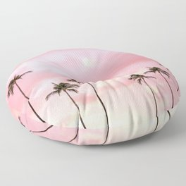 Palm Trees Photography | Hot Pink Sunset Floor Pillow