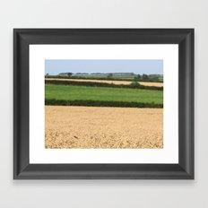 Fields of Devon I Framed Art Print