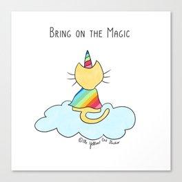 Cat unicorn - Bring on the Magic Canvas Print