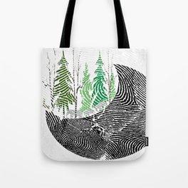 Our fingerprint on earth Tote Bag