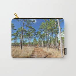 Dirt road through a pine forest Carry-All Pouch