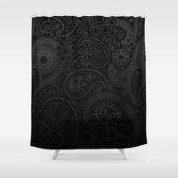 damask Shower Curtains featuring Damask by Rothko