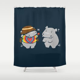 Hippypotamus Shower Curtain