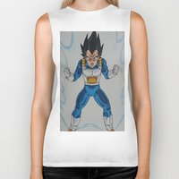 vegeta Biker Tanks featuring Prince Vegeta by bmeow