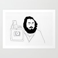 kubrick Art Prints featuring Stanley Kubrick by Sector 8