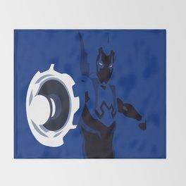 Blue Beetle Minimalism Throw Blanket