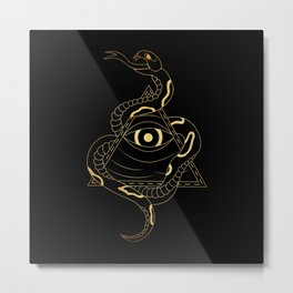 Serpent and the Watcher Metal Print