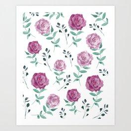 Romantic Florals [daily 18.3.2018. 1/60] Art Print