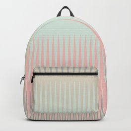 Blush Blue Weave triangles Ombre Backpack