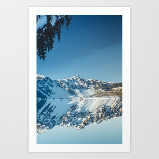 Crater Reflection Art Print
