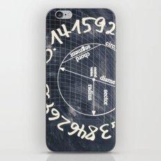 pi-black and white iPhone & iPod Skin