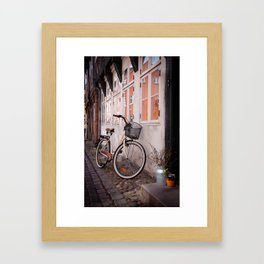 Bicycle in Ribe Framed Art Print