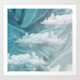 """Blue pastel sweet heaven and clouds"" Art Print"