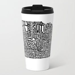 Typographic Nebraska Travel Mug
