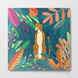 Cheetah chilling in the wild Metal Print