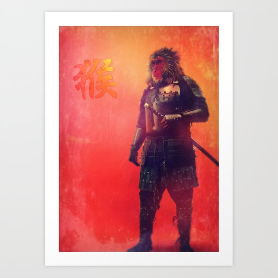 Mystical Monkey Art Print
