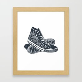 A Journey Of A 1000 Miles Begins With A Single Step Framed Art Print