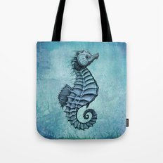 Seahorse II ~ Ink and Watercolor Tote Bag