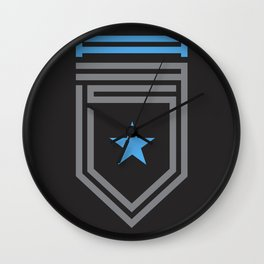 A35 Typographic Crest Wall Clock