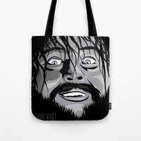 wwe Tote Bags featuring WWE - Bray Wyatt by Chaotic Color