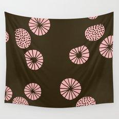 Dandelion flying brown Wall Tapestry