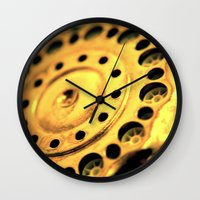 grunge Wall Clocks featuring Grunge by VoiceOneArts