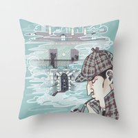 221b Throw Pillows featuring 221B Baker Street by enerjax