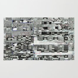 Highly Resolved Ghost (P/D3 Glitch Collage Studies) Rug