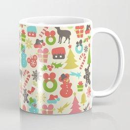 Hidden Mouse Ears Colorful Retro Inspired Christmas Coffee Mug