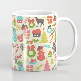 Hidden Mouse Ears Colorful Retro Inspired Christmas Coffee Mug