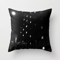 astronomy Throw Pillows featuring Modern Astronomy by Christine - 9th Cycle Studios