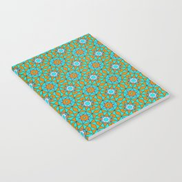 Moroccan Tile 1A - Blue Notebook