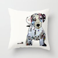 jack russell Throw Pillows featuring jack Russell (dogs  by bri.buckley