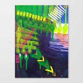 Wave green Canvas Print