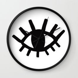 Open Eyes Wall Clock