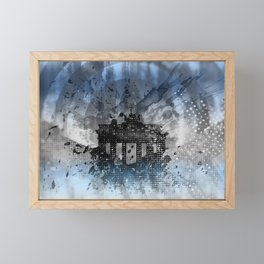 Graphic Art BERLIN Brandenburg Gate Framed Mini Art Print