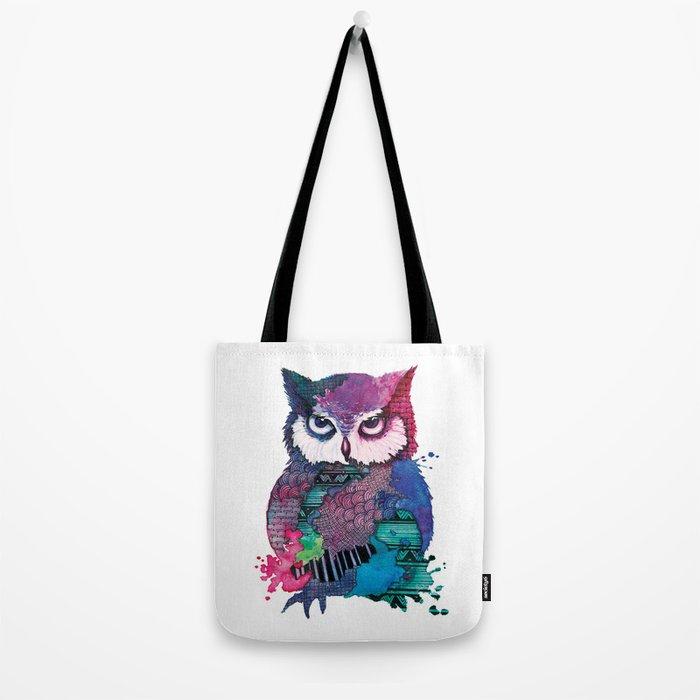 Watercolor Owl Tote Bag